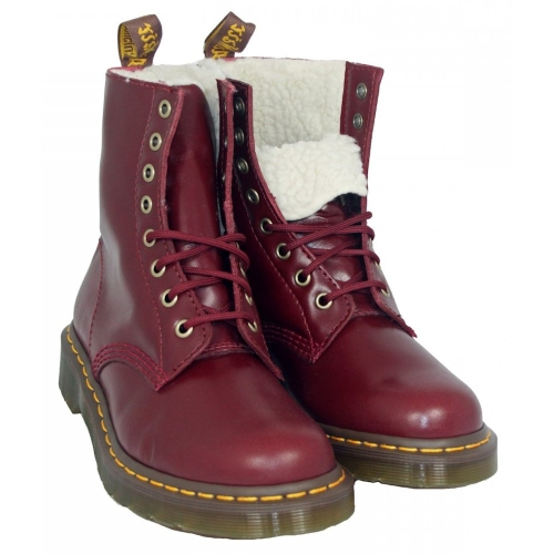 Dr Martens - Serena Shiraz Red Fur Boots