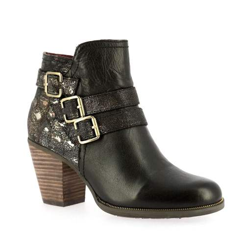 Laura Vita - Angelina 01 Noir Leather Ankle Boots