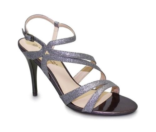 Lunar - Oracle Pewter Heeled Sandals