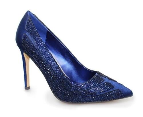 Lunar - Sasha Diamante Navy Court Heels