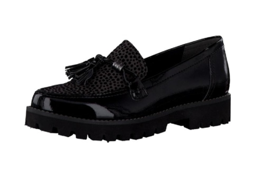 Marco Tozzi - Black Loafer Flats