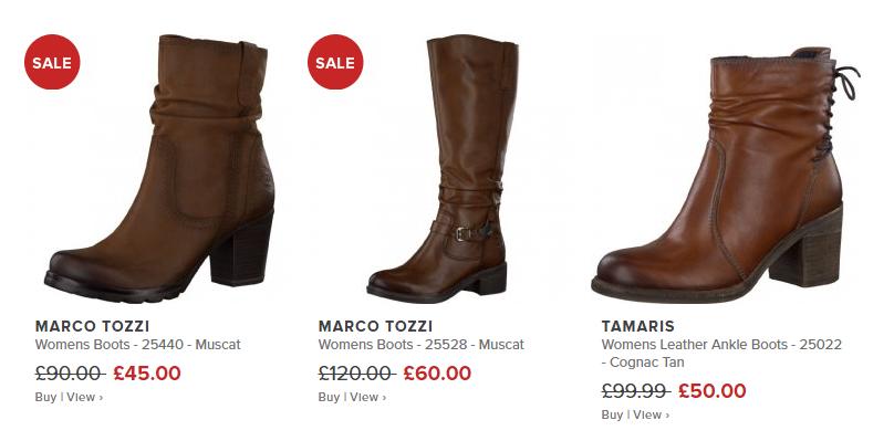 Millars Shoe Store Black Friday Sale: Marco Tozzi, Tamaris