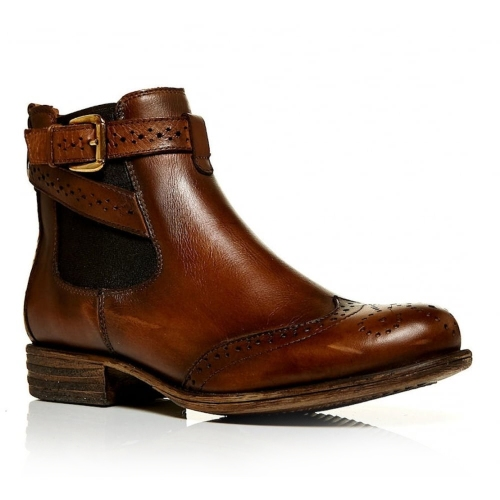 Moda in Pelle - Caliso Ankle Leather Tan/Brown Boots
