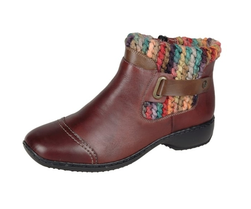 Rieker - Bogota/Cristallino Polar Boots in Burgundy/Multi