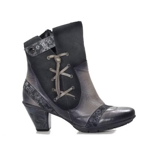 Maciejka - Ava Leather Grey Ankle Boots